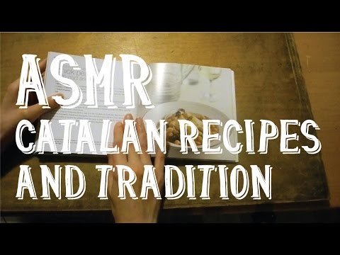 ASMR Catalan Recipes and Tradition - Book Page Turning - Thick Pages - Whispering