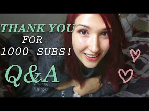 ❤ 1K SUB SPECIAL! ❤ ASMR Q&A ❤ Answering Your Questions! ❤