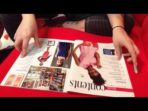 ASMR - Flipping Through Sewing Magazines with Tracing (No Talking)