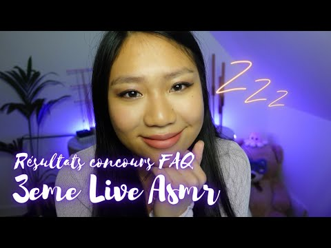 LIVE ASMR ❤️  RESULTATS CONCOURS FAQ + triggers on se relaxe 💫