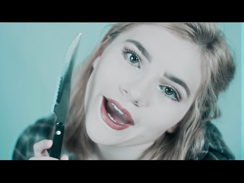 Stabbing You ASMR (role-play, stabbing sounds, whisper)