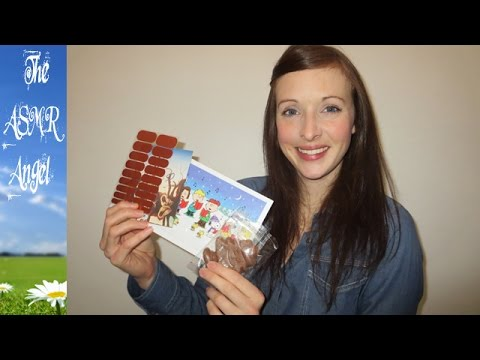 ASMR Reading cards from viewers and eating chocolate from the USA