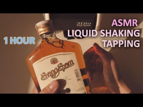 ASMR.1 Hour of WATER SHAKING & TAPPING 나른한 햇살과 위스키 SUNLIGHT & WHISKEY | 1시간 | NO TALKING