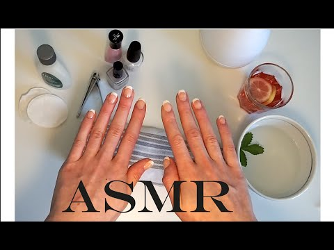 ASMR Nail Salon Manicure ♥ Role Play ♥ Hand Massage ♥ Soft Spoken ♥ Whisper