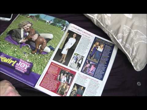 Asmr magazine read , page turning flipping and whispering . asmr tingles and triggers