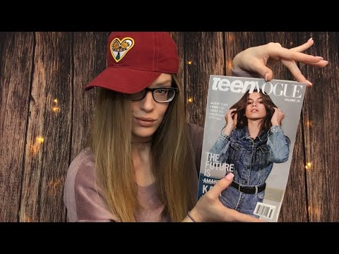 ASMR Let's Go Through A Magazine 📜 BINAURAL Page Turning, Sticky Fingers, Gentle Whispering