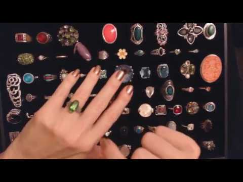 ASMR Whisper ~ Ring Collection Show & Tell