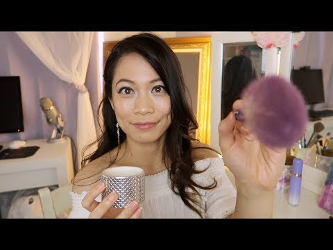 Doing Your Scalp Massage w/ Tickling, Hairbrushing + Makeup Pearls & Brows Roleplay