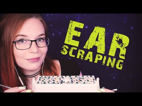 ASMR Ear Scraping - Rough Ear Cleaning - No Talking