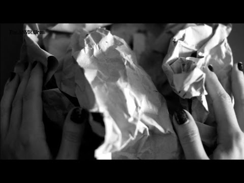 ASMR Thick Paper Crinkles . Slow Hand Movements