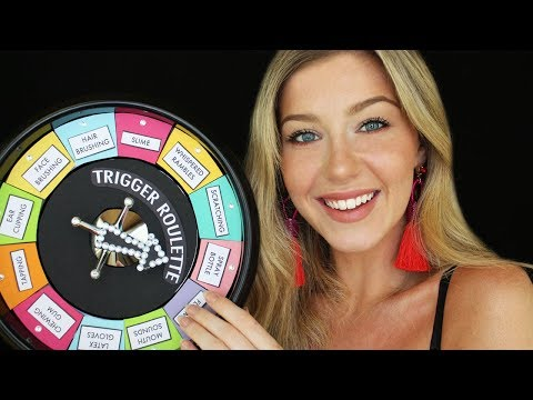 ASMR 3Dio Trigger Roulette (Mouth sounds, latex gloves, tapping etc)