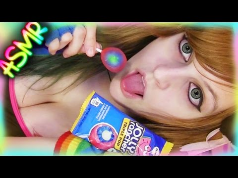 ASMR 🍭 Lollipop Licking ░ Mouth Sounds ♡ Jolly Rancher Triple Pop, Candy, Food, Eating, Crinkle ♡