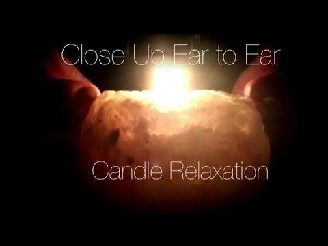 ASMR Close-Up Ear to Ear Whisper Relaxation | Soothing Candle Light | Rain Sounds