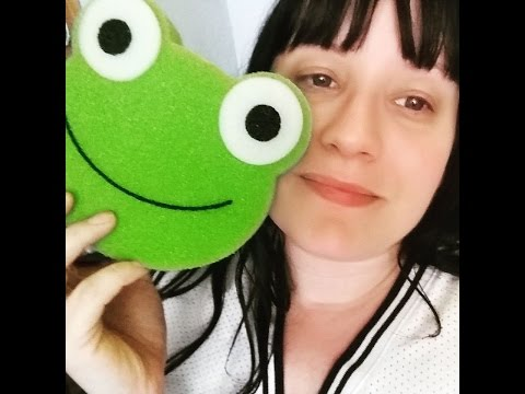 ASMR - RELAX YOU WITH MAGICAL SPONGES  ROLE PLAY - FROG DUCK PIG SPONGES CRINKLY PACKAGING