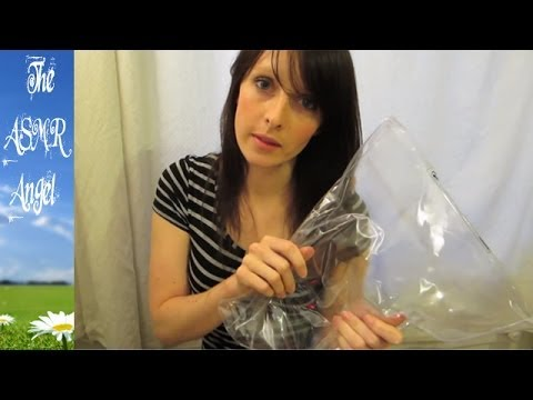 ASMR Binaural Sounds Video with card, cotton and heavy plastic