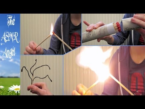 ASMR Lighting Matches with Whispering (Binaural - 3D Sound)