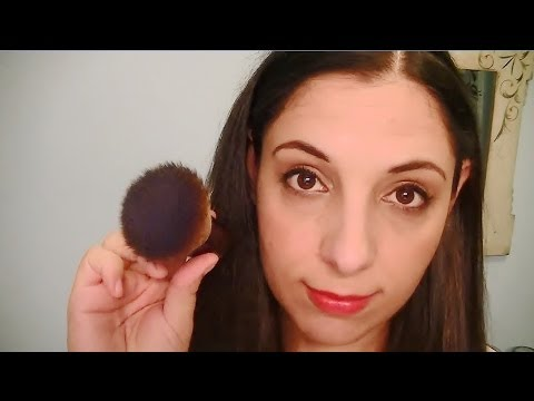 Brushing Your Face And Ears With A Makeup Brush Assortment For Relaxation (ASMR) (3D Binaural)