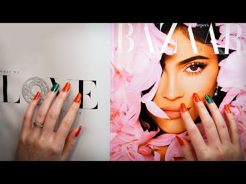 ASMR Magazine Page Flipping & Letter Tracing (Whispered)