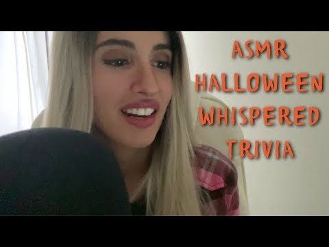 ASMR Whispered Halloween Trivia Questions & Answers with Tablet Tapping 🎃🧡🧟‍♀️🧛🏼‍♀️🖤👻