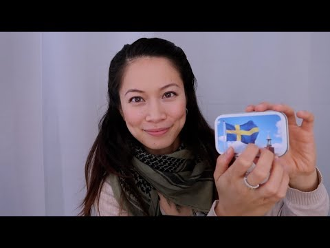 ASMR Tapping on Gifts From Sweden 🇸🇪