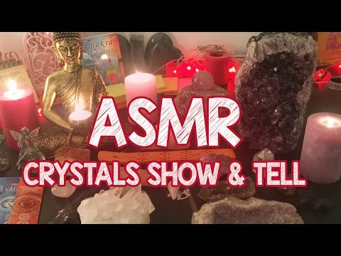 ASMR Crystal Collection Show & Tell ♡ Soft Spoken & Whispers (Soothing & Relaxing)