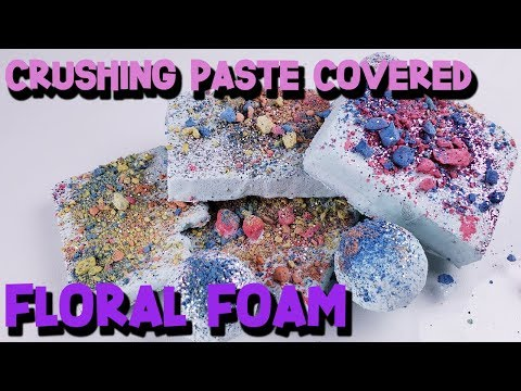 Crushing Paste Covered Floral Foam - Satisfying Floral Foam ASMR - The ASMR Doctor