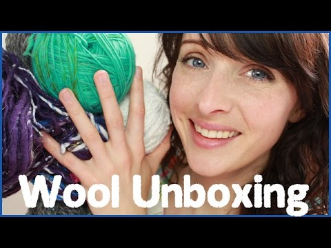Handspun Wool/Yarn Unboxing - Soft spoken ASMR video