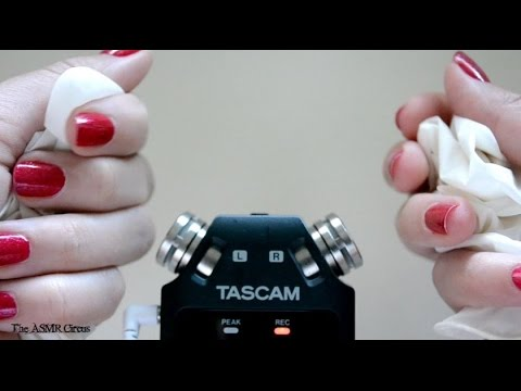 ASMR The Sounds of Medical Gloves . Close Up Sounds & Visuals