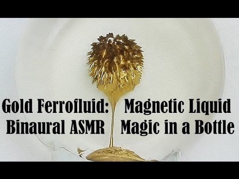 Oddly Satisfying Binaural ASMR: Gold Ferrofluid Magnetic Liquid Magic