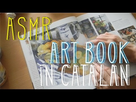 ASMR Watercolour Art Book | Page Turning | Catalan Whispering | LITTLE WATERMELON