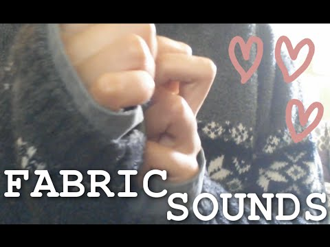 ASMR - FABRIC SOUNDS! ~ Long Sleeves Friction, 5 Different Shirts, Relaxing Clothing Sounds ~