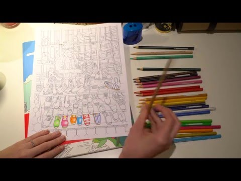 ASMR Part 1 Relaxing with Giotto Stilnovo Colouring Pencils   No Talk   LITTLE WATERMELON