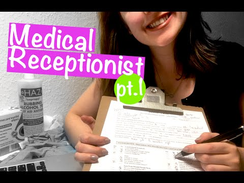Doctor Receptionist Roleplay 📋 Medical ASMR | Typing, writing