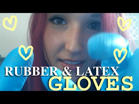 ASMR - RUBBER / LATEX GLOVES ~ Crinkling & Rubbing Latex Gloves for Tingly Sounds ~