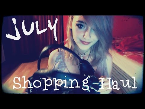 ASMR July Shopping Haul - Crinkles, Tapping & Quotes!