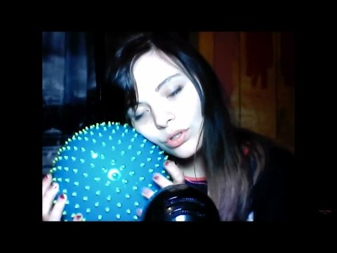 rubber poky ball therapy ✿ beauty objects ✿ crystals ✿ inaudible whispering ASMR