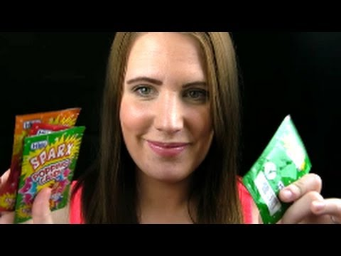 Asmr Chewing and whispering - Tingle your brain with Popping Candy