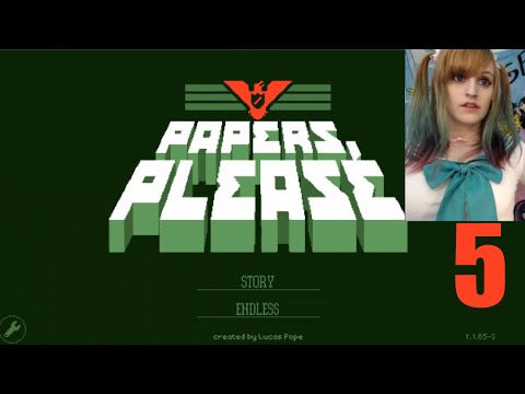 Papers Please Let's Play ~ PART 5 ~ BabyZelda Gamer Girl