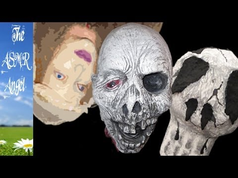 ASMR Tapping & Scratching of various plastic, rubber and paper Halloween heads
