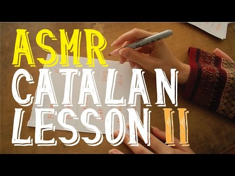 ASMR Catalan Lesson in English Part 2 | Whispering | NATIONAL DAY OF CATALONIA