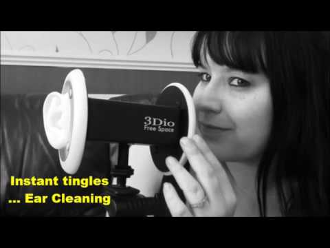 ASMR - Instant Tingles - Mini Ear Cleaning (Sounds only) 3Dio Binaural mic